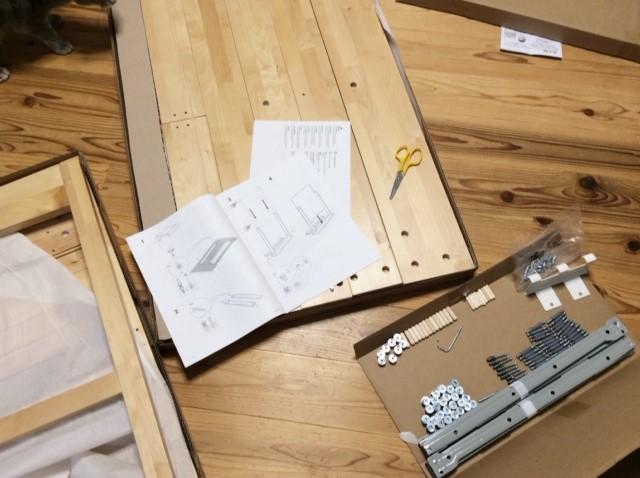 【初めてのDIY】IKEAのKUNSKAP子供デスクを買って組み立てました