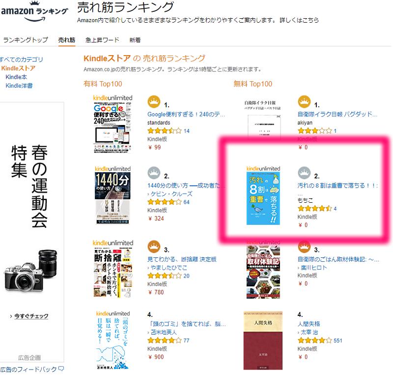 【終了】kindle本の無料キャンペーンは5月3日16時59分まで!!